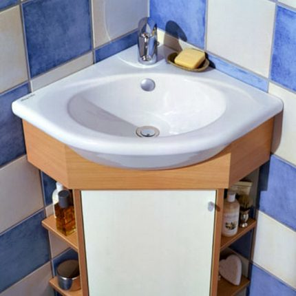 Small bathroom corner vanities