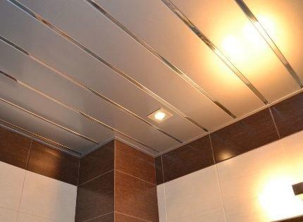 Реечный потолок алюминиевый