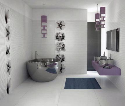 Стиль хай-тек для ванной