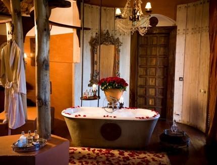 Ванная в романтическом стиле