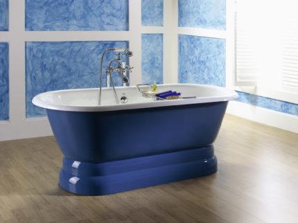 Ванная комната в стиле прованс глубокий синий