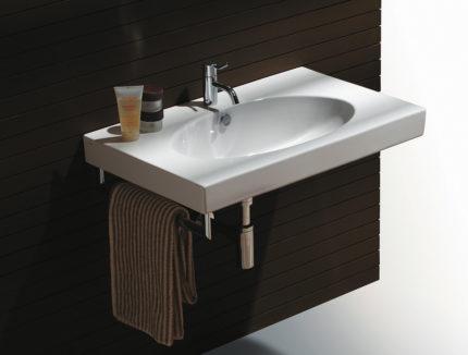 Подвесная раковина в ванной комнате
