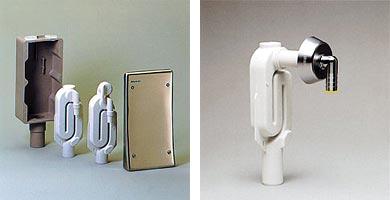 Сифон в стене для стиральной машины
