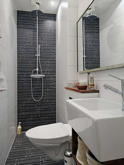 Гармоничное сочетание дизайна отдельных зон ванной