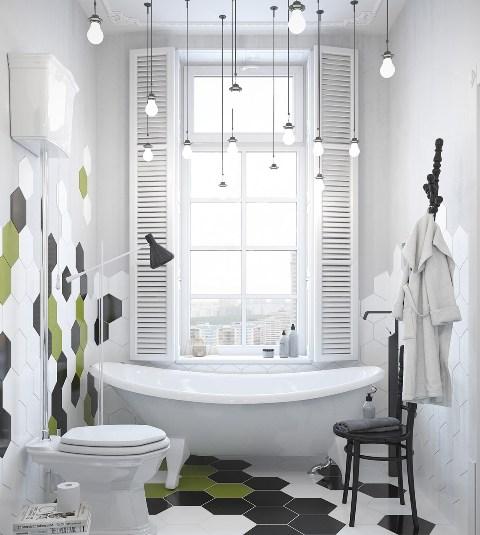 Необычный подход к освещению ванной в лофт-дизайне