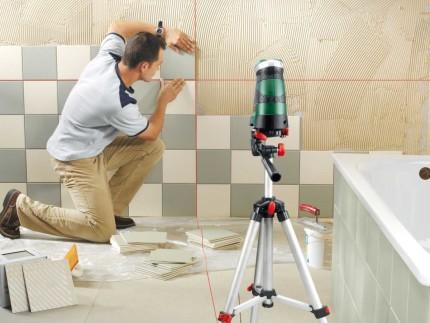 Лазерный уровень для укладки плитки