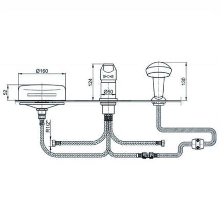 Схема соединения отдельных деталей смесителя