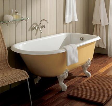 Оформление стен в ванной в прованском стиле