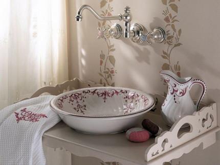 Раковина для ванной в прованском стиле