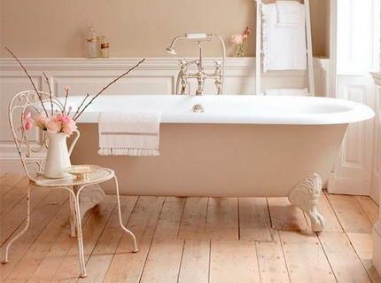 Пол в ванной в прованском стиле