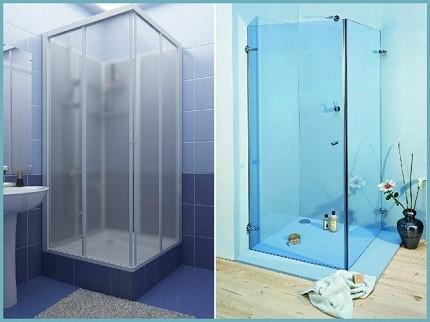 Модели со стеклянными и пластиковыми шторками