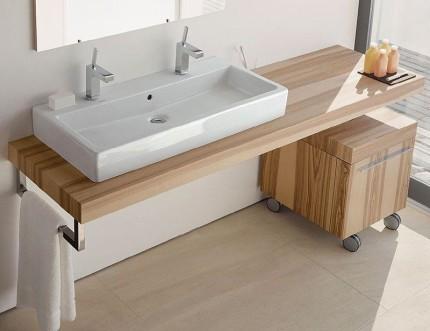 Деревянная столешница под ванную