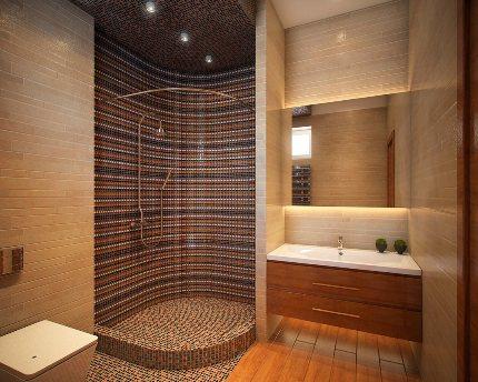 Душевая кабина без поддона своими руками в квартире 69 фото вариант из плитки со сливом в полу стеклянные модели
