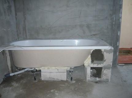 Каркас для стальной ванны