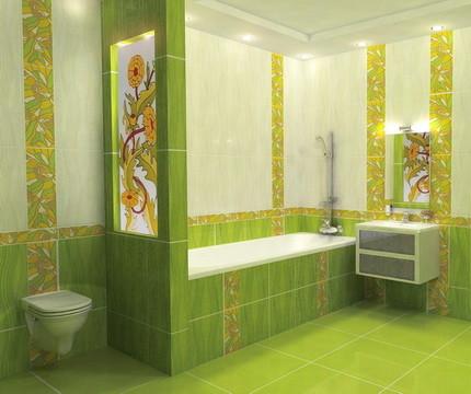 Керамическая плитка для отделки стен ванной комнаты