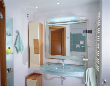 Место установки вентилятора в ванной комнате