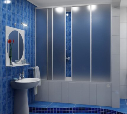 Раздвижные шторы для ванной