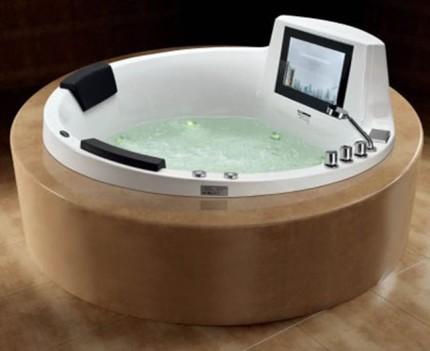 Акриловая гидромассажная ванна круглой формы
