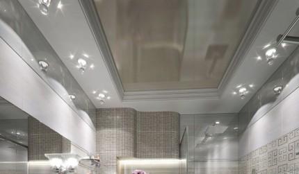 Натяжной потолок в раме из гипсокартона