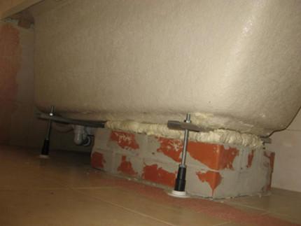 Комбинированное основание для акриловой ванны