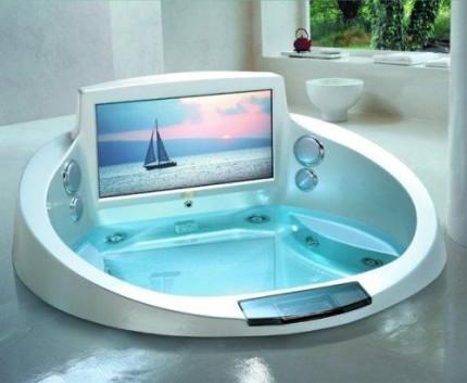 Гидромассажная ванна круглой формы