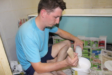 Подготовка состава для эмалировки ванны
