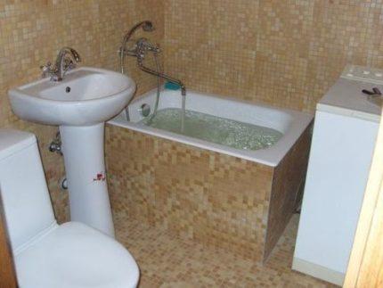 Сидячая ванна в хрущевке