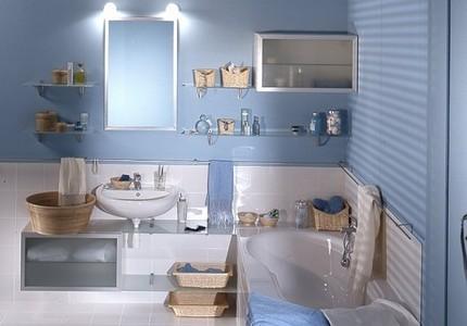 Стеклоткань в оформлении ванной