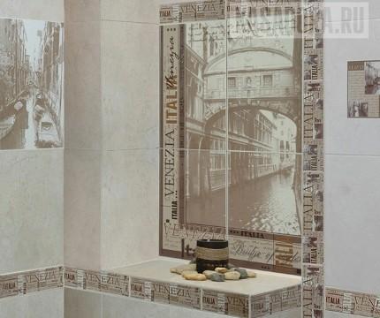Фотобордюр в ванной