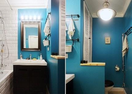 Окраска небольших ванных комнат