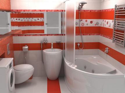 Интерьер с сидячей ванной