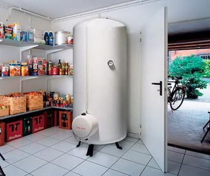 Установка напольного водонагревателя