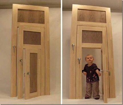 Нестандартная конструкция двери