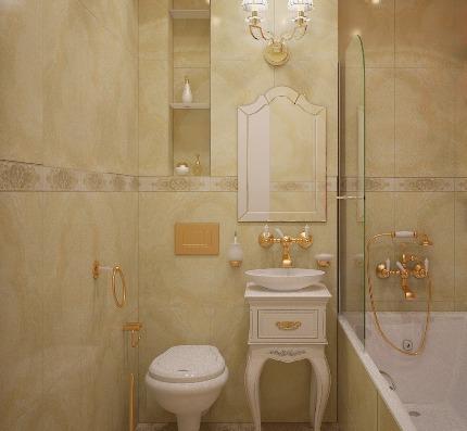 Классика в небольшой ванной