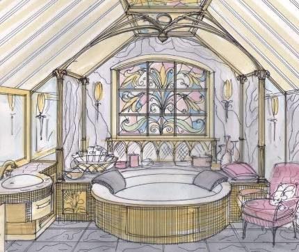 Эскиз ванной комнаты