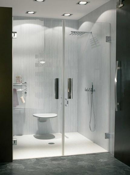 Прозрачные стеклянные двери