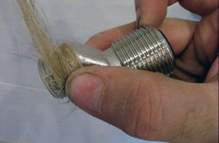 Герметизация термостатического смесителя