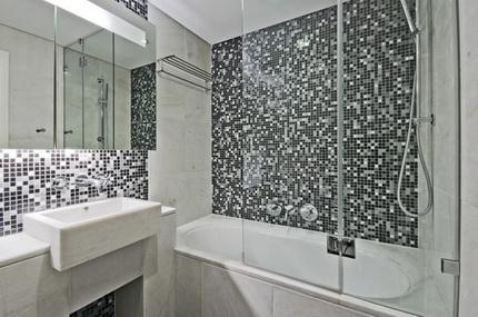 Рельефная плитка в ванной