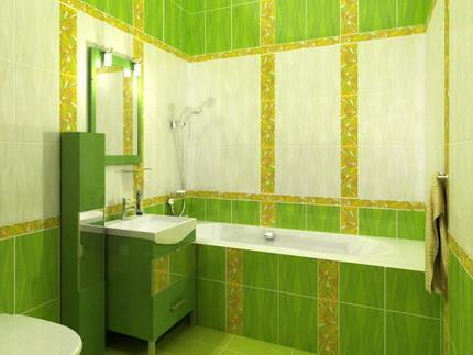 Плитка в маленькой ванной