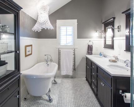 Маленькая ванная в классическом стиле