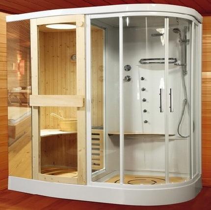 Душевая кабина с сауной установка в квартире кабины с эффектом турецкой и финской бани функция инфракрасной сауны отзывы