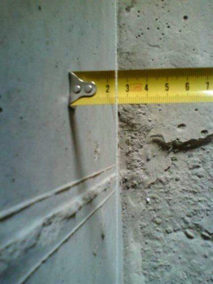Измерение кривизны стен