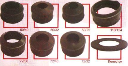 Резиновые манжеты для канализации