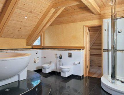 Гидроизоляция ванной в деревянном доме перед финишной отделкой