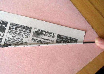 Трубочка из газеты