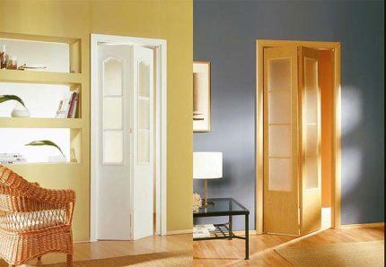 Двери гармошкой в ванную комнату