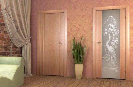 Двери по цвету и декору