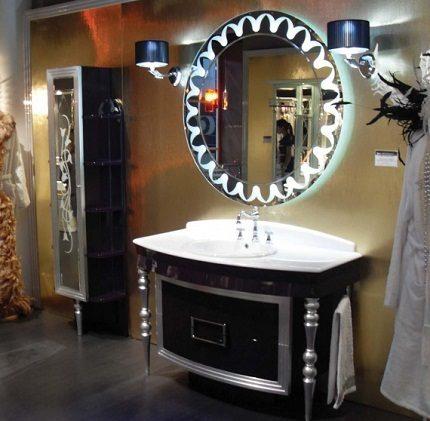 Дизайн зеркала с подсветкой