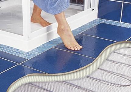 Теплый пол в ванной под плитку: плюсы и минусы, как лучше выбрать теплый пол под кафель