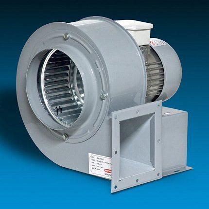 Радиальный вентилятор для вытяжки